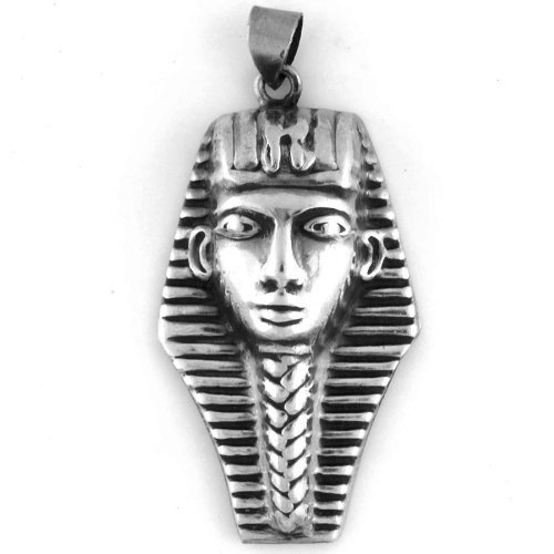 Egyptian Jewelry Silver King Tut Pendant