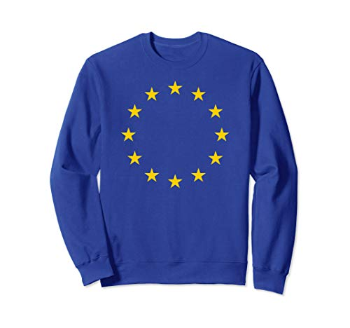 Britain UK European Union Blue Yellow stars EU Flag Brexit Sweatshirt (Christmas Anti Uk Jumper)