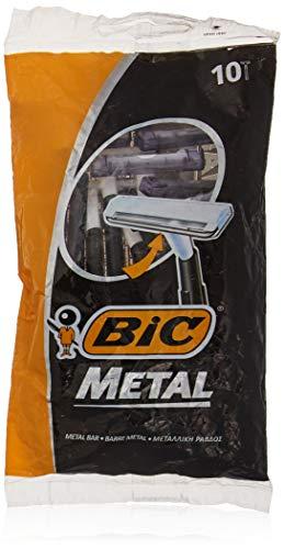 Bic Metal Disposable Men's Shaving Razors, 10-Count x 1 Pack