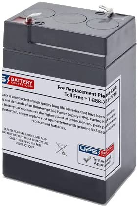 Replacement Battery for CooPower CP6-4.5 6V 4.5Ah F1 Compatible