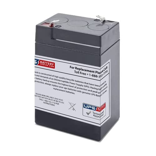 6V 4.5Ah F1 - UPSBatteryCenter battery replacement for Sonnenschein LCR6V4P