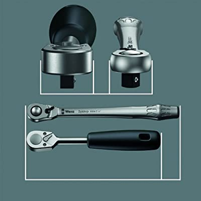 Wera 4013288174024 05004004001 8004 A Zyklop Full Metal Ratchet with Switch Lever, 1/4