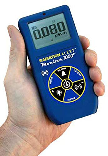 Radiation Alert Monitor 1000EC Radiation Detector | Detects Gamma and Xrays | Energy Compensated GM Detector | Protective Boot