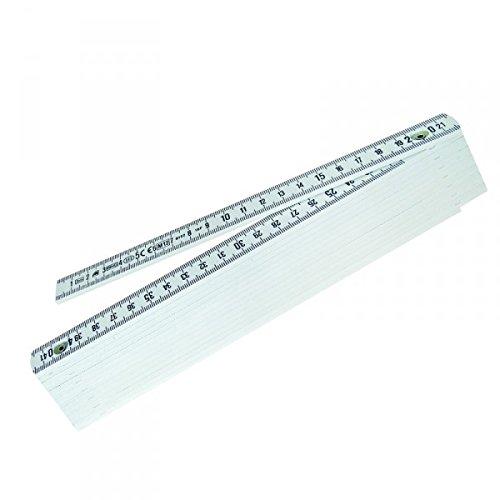Metrica 18070 M/ètre /à triple pliant en fibre Blanc