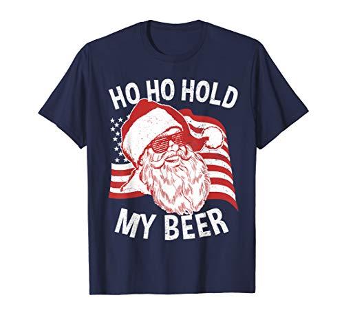 Christmas In July Shirt   Santa Ho Ho Hold My Beer T-Shirt