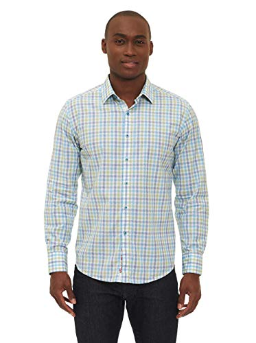 Robert Graham Rohan Long Sleeve Woven Shirt Blue XLarge from Robert Graham
