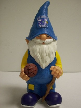 FOCO Forever Collectibles NBA New Orleans Hornets Garden Gnome by FOCO
