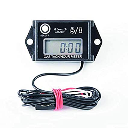 Nine-Rong Tach - Medidor digital de horas de tacómetro Tach & Medidor de horas reajustable para motocicleta