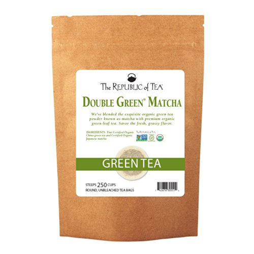 The Republic of Tea Double Green Matcha, 250 Tea Bags, Gourmet Blend of Organic Green Tea And Matcha - 250 Green