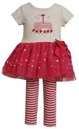 Bonnie Jean Little Girls' Birthday Capri Set, Pink, 2T