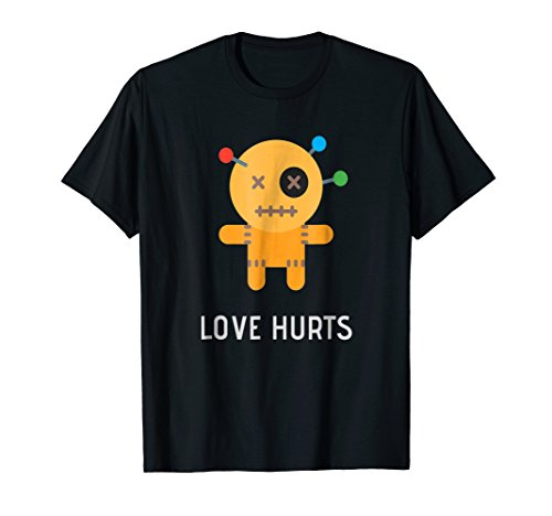 Love Hurts Funny Voodoo Doll Tshirt - Costume Shirt Idea -