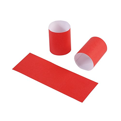 Gmark Paper Napkin Band Box of 2500 (Red), Paper Napkin Rings self Adhesive GM1048