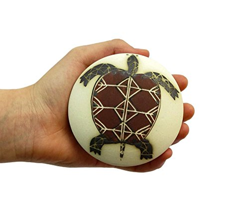 Ceramics and Pottery Stoneware Salt Shaker, Salt or Pepper Shaker with Hand Painted Turtle ()