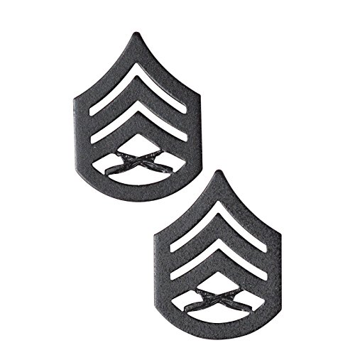 (USMC Black Enlisted Rank Insignia (SSgt))
