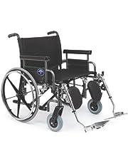 Medline Excel Shuttle Extra-Wide Wheelchair, 26 Inch