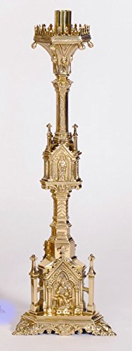 Traditional Gothic Church Altar Candlestick - Paschal Candlestick - Chalice (CCG-80)