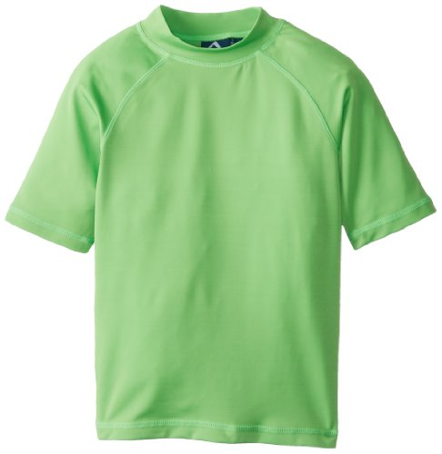 Kanu Surf Big Boys' Fiji Rashguards, Green, Small (8)