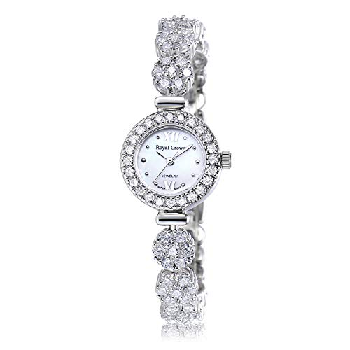 Royal Crown Women's Watch Analog Quartz Watch Jewelry Fashion Ladies Wrist Watches Bracelet Gift from Royal Crown