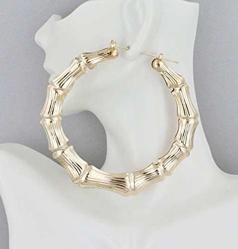 bamboo door knocker earrings - 7