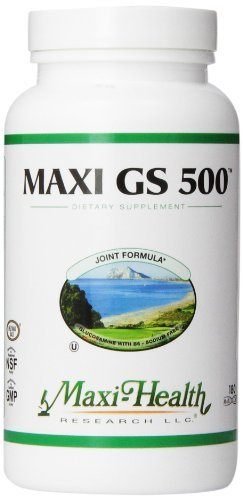 Maxi Health GS 500 - Glucosamine Sulfate - with Vitamin B6 - Joint Formula - 180 Capsules - Kosher by Maxi-Health