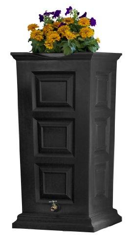 Good Ideas SV-RS-BLK Savannah Rain Barrel 55-Gallon, Black