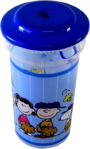 Snoopy Cup - Snoopy Drinking Cup with Straw