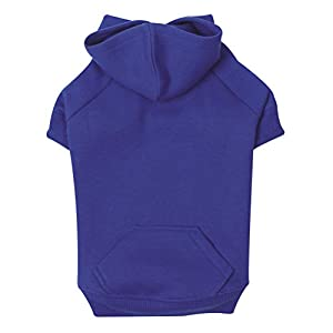 """Zack & Zoey Basic Hoodie for Dogs, 20"""" Large, Nautical Blue"""