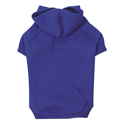 Zack & Zoey Basic Hoodie for Dogs, 24'' X-Large, Nautical Blue by Zack & Zoey