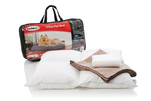 Bindaboo B2453 5 Star Pet Bed, Sandstone with Chocolate Trim, Small