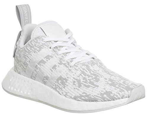 adidas Nmd_r2 W, Zapatillas de Deporte para Mujer Blanco (Ftwbla/Ftwbla/Gridos)