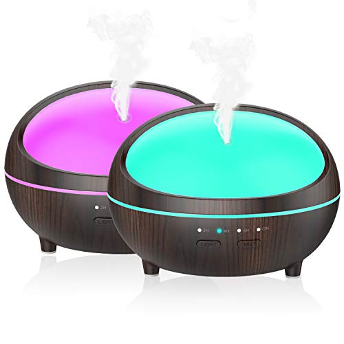 Essential Oil Diffuser, 2 Pack Aromatherapy Diffuser 300ml W