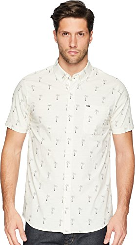 Rip Curl Men's Riviera SS Shirt, Off White/Off White, ()
