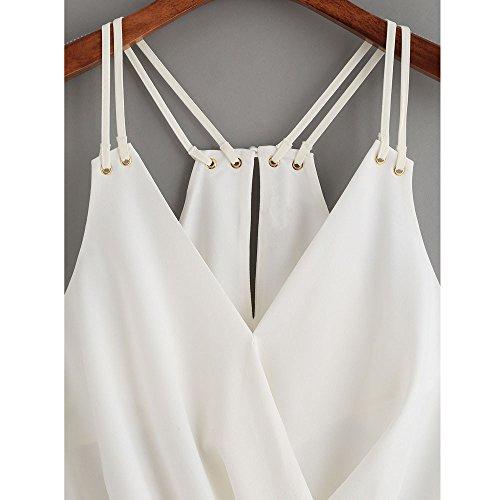 VENMO Camisas Sin Mangas de la Honda de la Camiseta de la Gasa de las Mujeres Blusa Cami Top