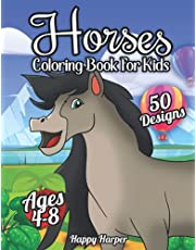 Horses Coloring Book For Kids Ages 4-8: A Fun and Beautiful Horse + Pony Coloring Activity Book For Kids and Preschoolers