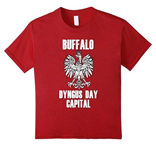 Kids Buffalo Dyngus Day Capital Shirt Polish Eagle Poland 716  4 Cranberry