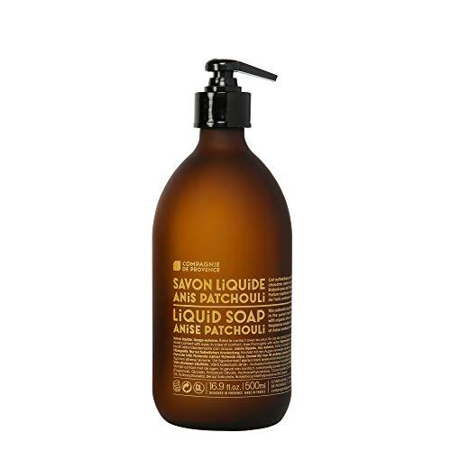 Compagnie de Provence Savon de Marseille Liquid Soap - Anise Patchouli - 16.9 Fl Oz Glass Bottle