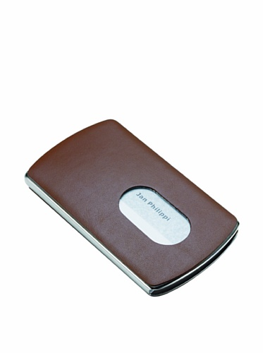 Philippi 120033 Nic Business Card Dispenser- Brown by Philippi