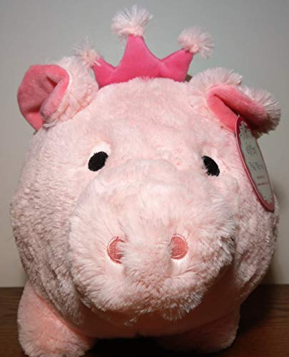 Jumbo Plush Piggy Pink Princess Bank, Hug Me and Fill Me (Jumbo Bank Slot)