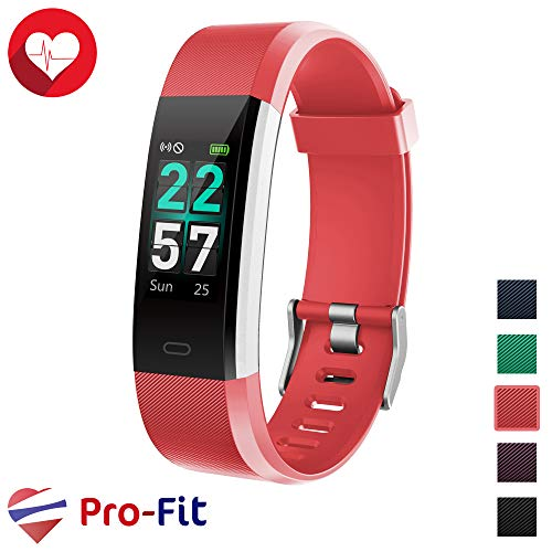 Pro-Fit Smart VeryFitPro Fitness Tracker IP68 Waterproof Activity Tracker Heart Rate Sleep Monitor (Red)