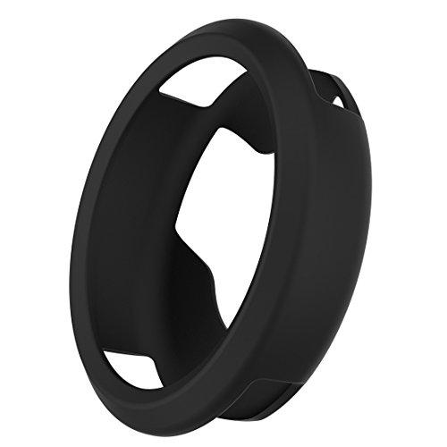 MOTONG Garmin Vivomove HR Case - MOTONG Silicone Protective Case Cover For Garmin Vivomove HR (Silicone Black)