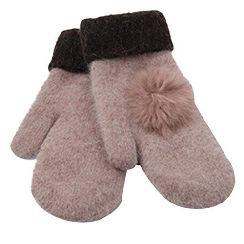 Women's Warm Winter Gloves Mittens Rose Gold - 5