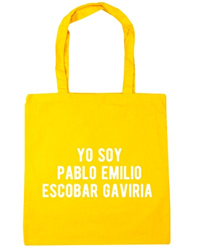 HippoWarehouse Yo Soy Pablo Emilio Escobar Gaviria Tote Compras Bolsa de playa 42cm x38cm, 10litros amarillo
