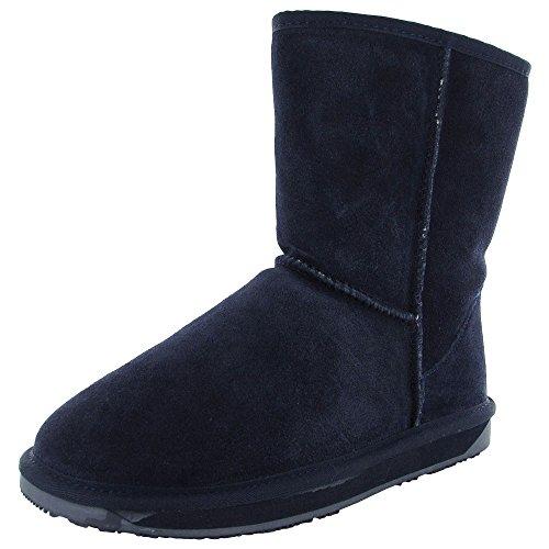 BooRoo Womens Eva Suede Merino Wool Winter Snow Boot Shoe, Navy, US 6