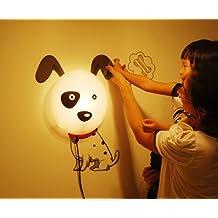 Alrens_DIY(TM)Novelty Cartoon Dalmatians Dog DIY 3D Wallpaper Wall Stickers Home Room Decor Decoration LED Night Light Lamp for Kids' Bedroom