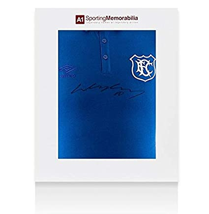 c924c9b16 Wayne Rooney Signed Jersey - Retro Umbro Everton Shirt Gift Box -  Autographed Soccer Jerseys