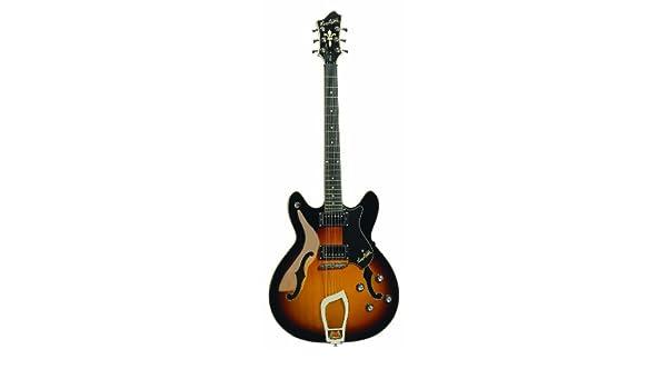 Guitarra eléctrica hagstorm viking - tobacco sunburst: Amazon.es: Instrumentos musicales