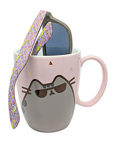 Pusheen Sunglass Gold Pink Mug and Pusheen Sunglasses - Set of 2 Items (Sunglasses Pusheen)
