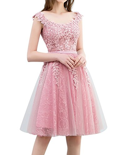 Appliques Prom Cdress Junior Dresses Gowns Cocktail Hot Short Homecoming Lace Dress Tulle pink Party pBwfZBq