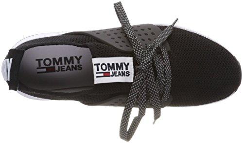 Knit Noir Jeans Bleu Black Femme Basses Sneakers 990 Sneaker Tommy Blanc HTq5Z