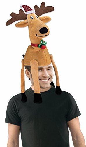 Price comparison product image Forum Novelties Men's Novelty Reindeer Hat, Multi, One Size